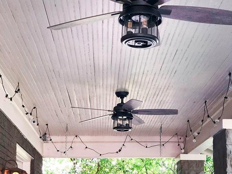 Большой потолочный вентилятор Hunter с гарантией от 5 лет. Диаметр вентилятора может составлять от 14 до 24 футов.