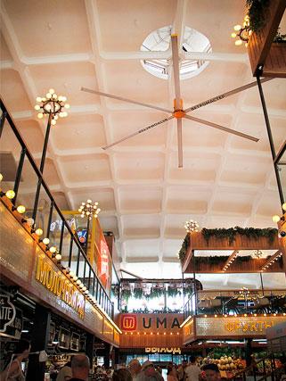 Большие потолочные вентиляторы для общественных учреждений
